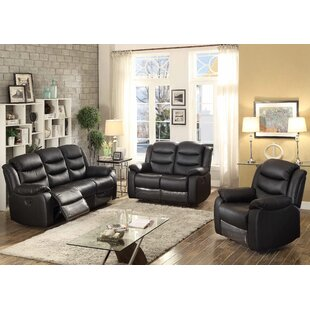 Bennett Reclining 3 Piece Leather Living ..