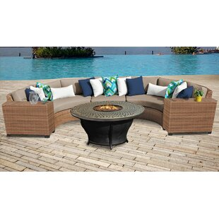 Medina 6 Piece Outdoor Sectional Seating Group With Cushions by Rosecliff Heights 2019 Coupon
