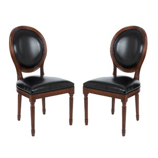 Find for Schofield Vintage French Round Upholstered Side Chair (Set of 2) by Darby Home Co Reviews (2019) & Buyer's Guide