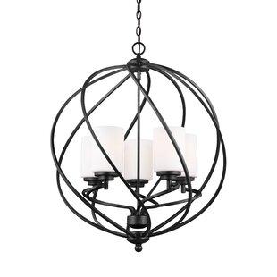 Brayden Studio Redington 5-Light Globe Chandelier