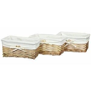 Willow Shelf Basket (Set of 3)