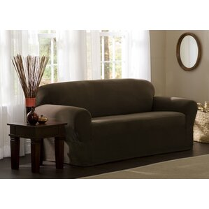 Box Cushion Sofa Slipcover by Three Posts