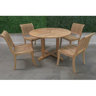 HiTeak Furniture Teak 5 Piece Dining Set