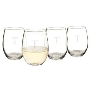 Personalized 21 oz. Stemless Wine Glass (Set of 4)