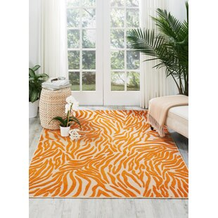 Gerdes Orange Indoor/Outdoor Area Rug