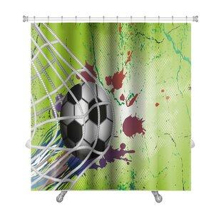Reviews Soccer Soccer Ball Premium Shower Curtain ByGear New