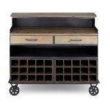 Struble Wood and Metal Crafted Sideboard by Gracie Oaks