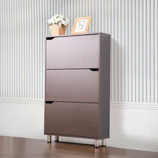 Latitude Run 18 Pair Shoe Storage Cabinet