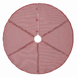 Red Stitched Tree Skirt
