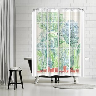 David Fleck Winter in Glasshouses Single Shower Curtain
