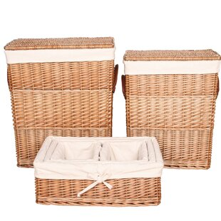 6 Piece Wicker Laundry Set By House Additions
