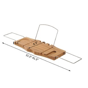 tub caddy tray products bath bathtub reclaimed wood