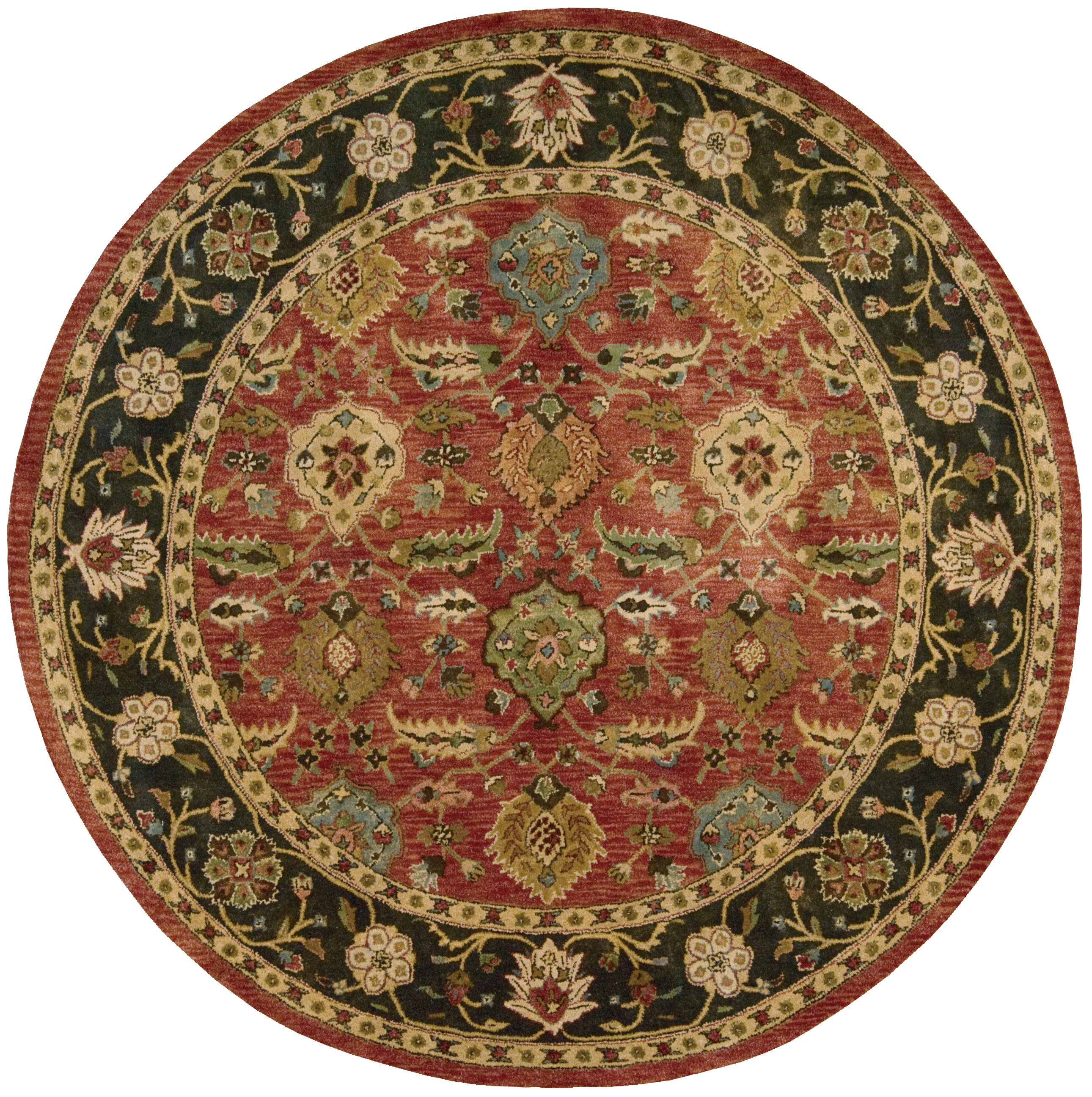 Astoria Grand Bassham Hand Tufted Wool Brick Red Ebony Black Area Rug Reviews Wayfair