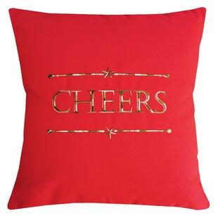 Holiday Cheers Indoor/Outdoor Sunbrella Throw Pillow