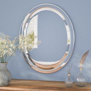 Andover Mills Needham Metal Oval Bathroom/Vanity Wall Mirror