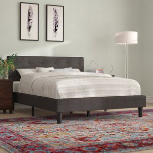 Hester Street Upholstered Platform Bed by Mercury Row