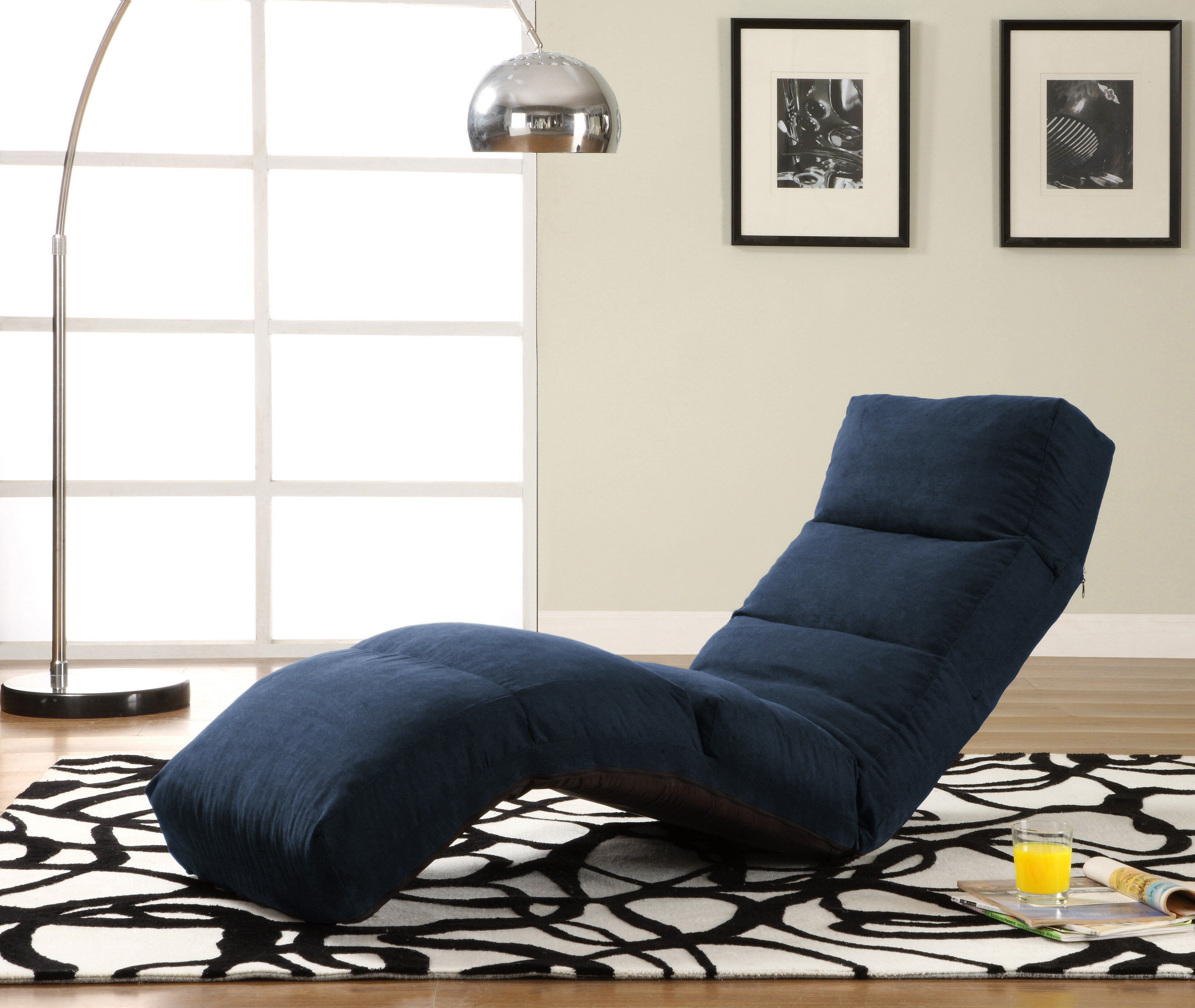 LifeStyle Solutions FREE Jet Curved Lounge Chair in Navy $200
