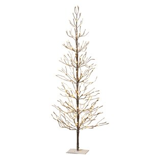 electric snowy 6 brown pine artificial christmas tree with 296 clearwhite lights