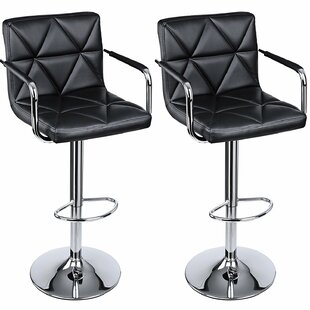 Ehlers Adjustable Height Swivel Bar Stool (Set of 2)