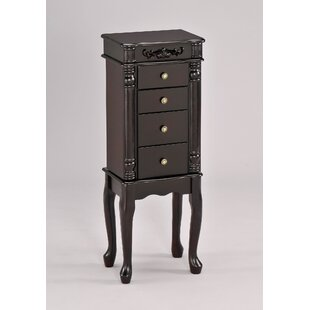 A&J Homes Studio Tiana Free Standing Jewelry Armoire with Mirror