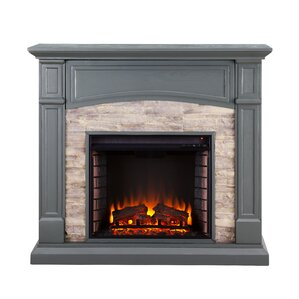 Dawn Electric Media Fireplace by Alcott Hill