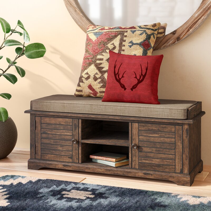 Superbe Camille Canton Wood Entryway Storage Bench