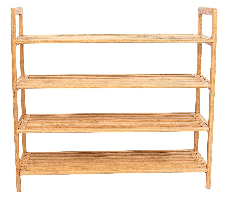 Ebern Designs Bamboo 12 Pair Shoe Rack Reviews Wayfair