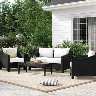 Portola 4 Piece Conversation Set with Cushions by Sol 72 Outdoor
