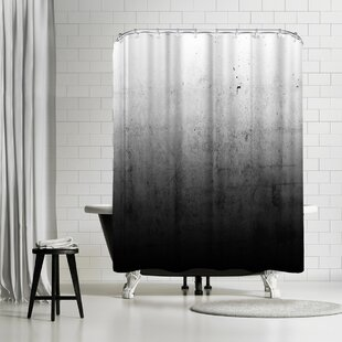 East Urban Home Emanuela Carratoni Black Ombre Shower Curtain
