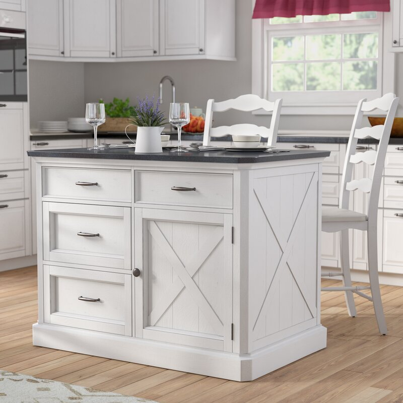Laurel Foundry Modern Farmhouse Ryles 3 Piece Kitchen Island Set ...