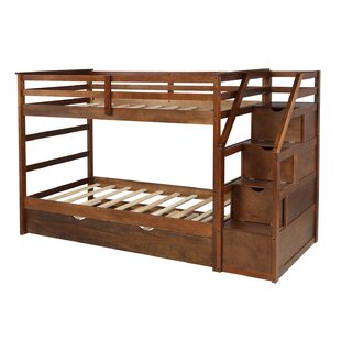 Aldgate Twin Over Twin Bunk Bed with Trundle And 3 Drawers