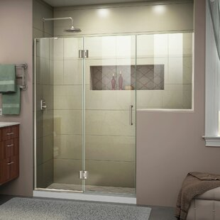 DreamLine Unidoor-X 60-60 1/2 in. W x 72 in. H Frameless Hinged Shower Door