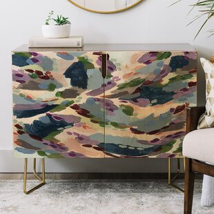 Laura Fedorowicz Wildflower Royale Credenza by East Urban Home