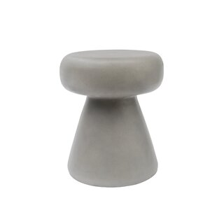 Thibeault Concrete Accent Stool by Williston Forge