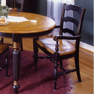 Spina Square Solid Wood Dining Chair (Set of 2) Bay Isle Home