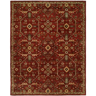 Hand-Woven Red Area Rug by Meridian Rugmakers