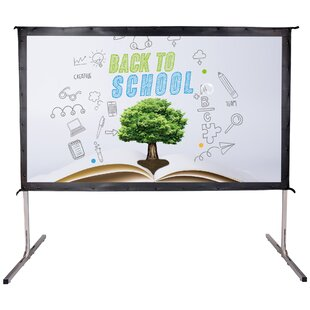 HD 4K White Portable Projection Screen