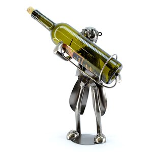 Old Waiter 1 Bottle Tabletop Wine Rack by..