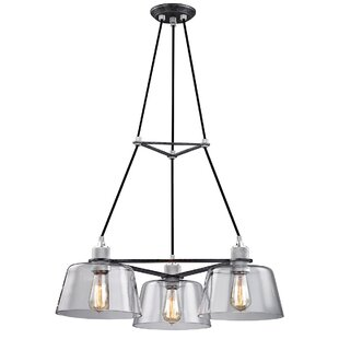Troy Lighting Audiophile 3-Light Shaded Chandelier