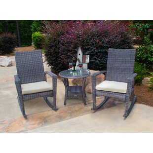 Lowell Bayview 3 Piece Conversation Set with Cushions