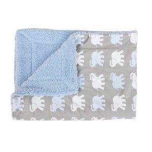 Cathcart Elephants Printed Micro Mink Baby Blanket
