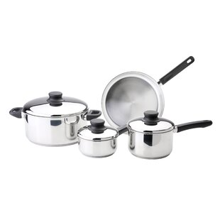 Kitchen Basics 7-Piece Stainless Steel Cookware Set with Lids