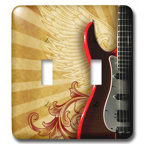 3drose Rock Guitar On A Rock Poster Background 2 Gang Toggle Light Switch Wall Plate Wayfair