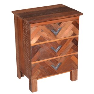 Whatley 3 Drawer Nightstand by Union Rustic