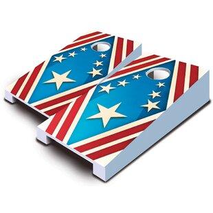 10 Piece Patriotic Tabletop Cornhole Set By AJJ Cornhole