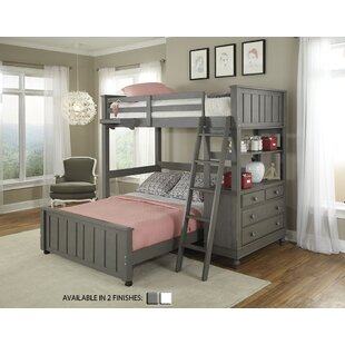 Twin Holly Loft with Full Size Lower Bed