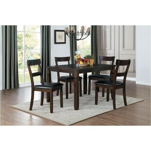 Sokolowski Dinette 5 Piece Solid Wood Dining Set Red Barrel Studio