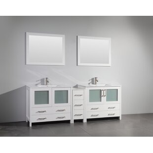 Inch Double Sink Vanity Wayfair - 84 bathroom vanities and cabinets