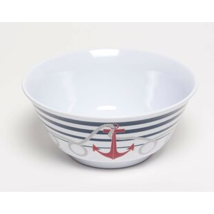 Yacht and Home 20 oz. Dockside Melamine Non-Skid Soup/Cereal Bowl (Set of 4)