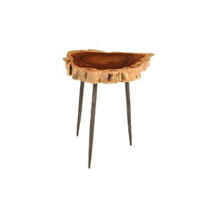 Foundry Select Claudine Makha Burled Wood End Table